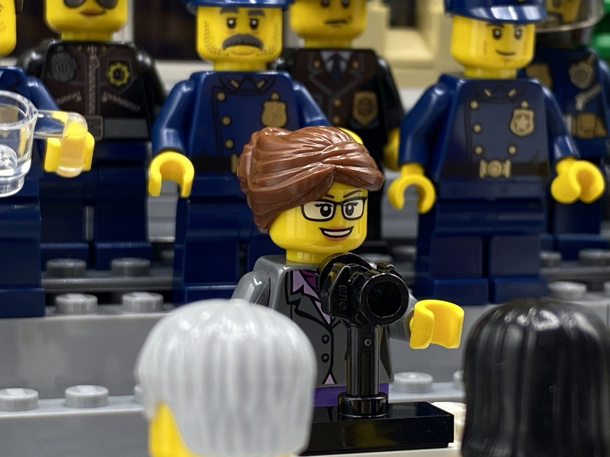 Mayor Emily Chapman holds a press conference